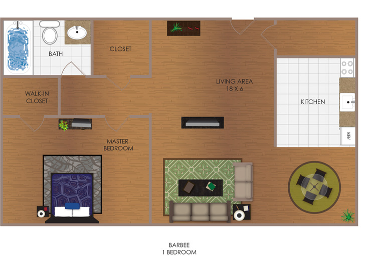 Barbee 1 Bedroom